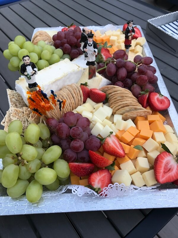 desserts fruit and cheese tray